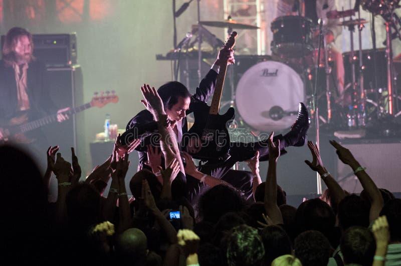 Grinderman concert royalty free stock photo