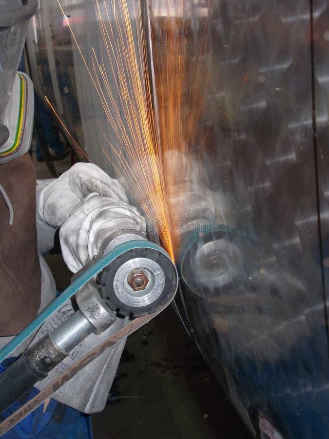 grinding stock foto's