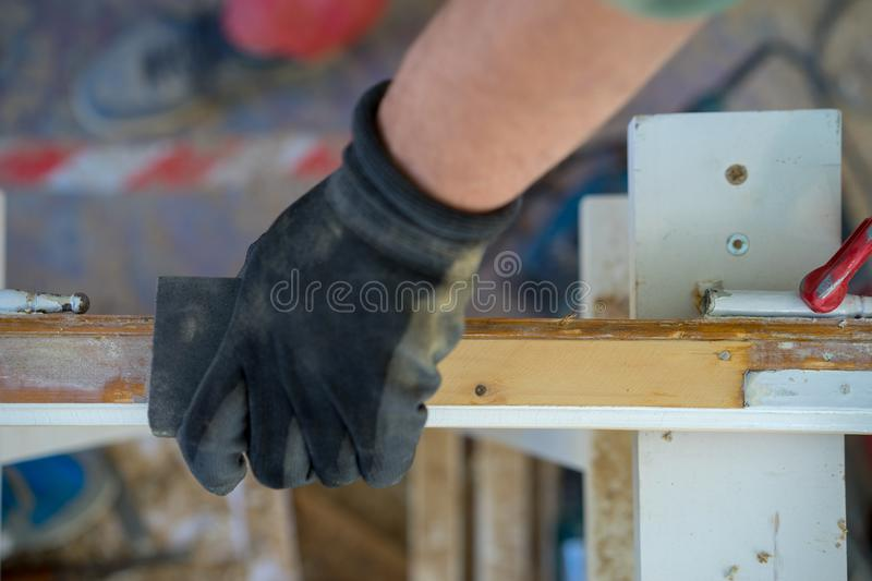 Grinding Hand royalty free stock image