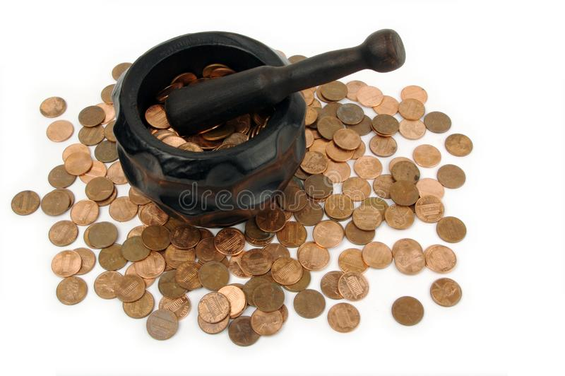 Download Grinding for Pennies stock photo. Image of currency, class - 3190238