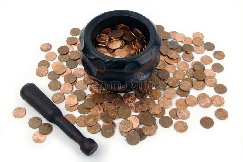 Download Grinding for Pennies stock photo. Image of penny, savings - 3190248