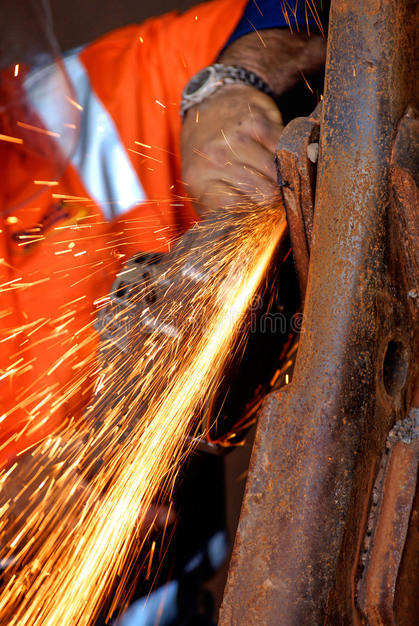 Grinding steel royalty free stock photo