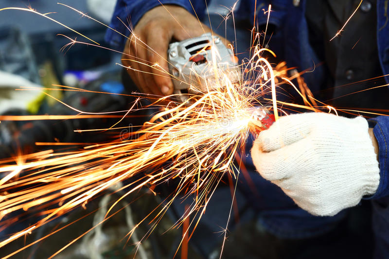 Grinding steel stock images