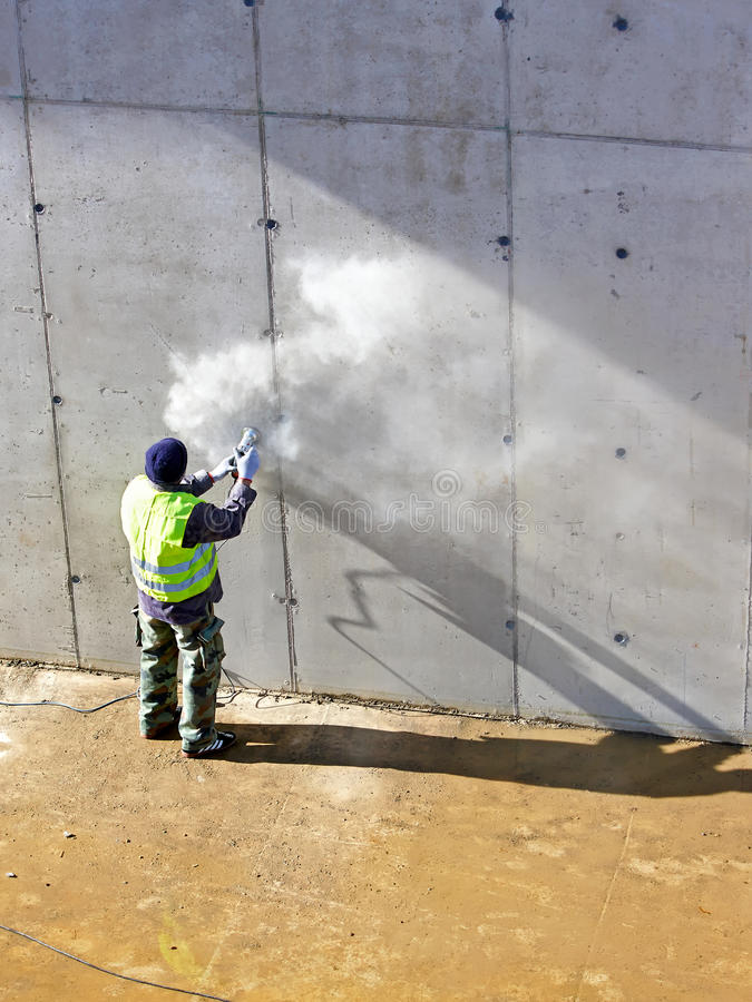 Buildings In A Cement Grinding Mill : Grinding wall stock photo image of worker dust