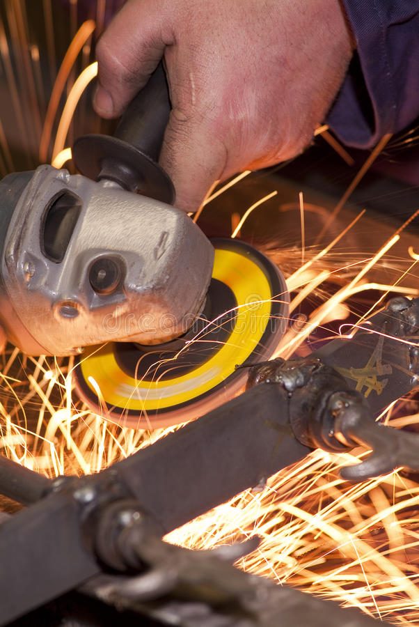 Grinding wheel cutting iron