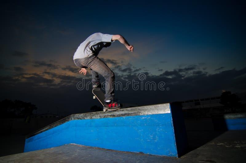 grindskateboarder royaltyfria foton