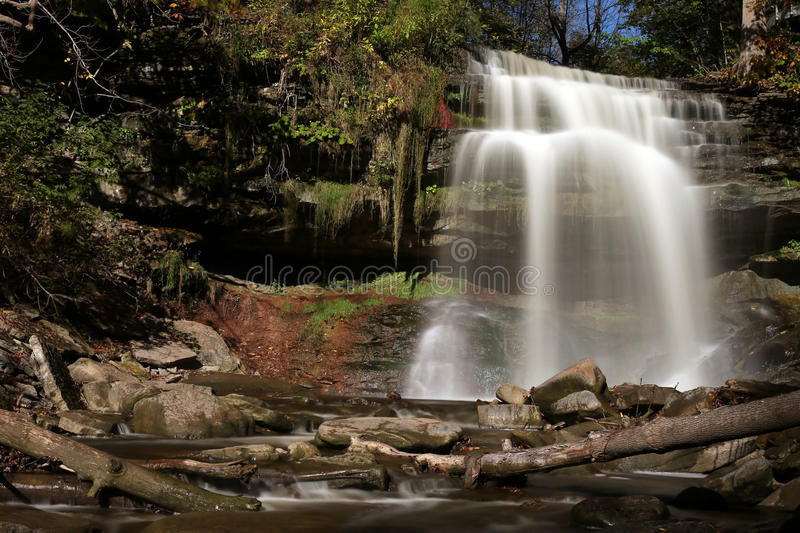 Grindstone Falls. In Smokey Hollow, Waterdown, ON Canada royalty free stock photo
