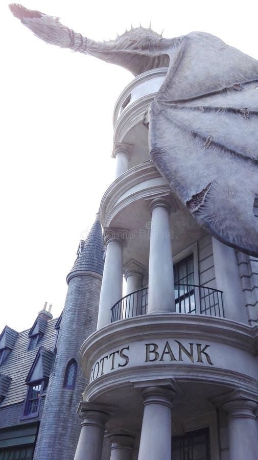 Gringotts银行龙 图库摄影