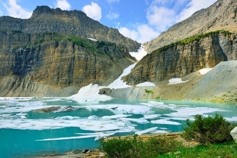 Grinnell glaciär i många glaciärer, glaciärnationalpark, Montana royaltyfri fotografi