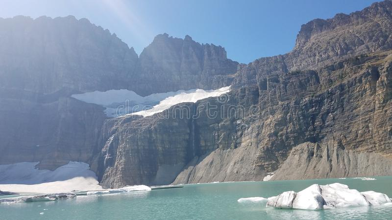 Grinnell glacier royalty free stock images