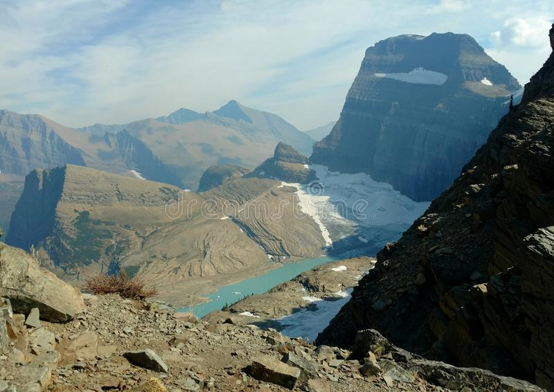 Grinnell Glacier Overlook stock image