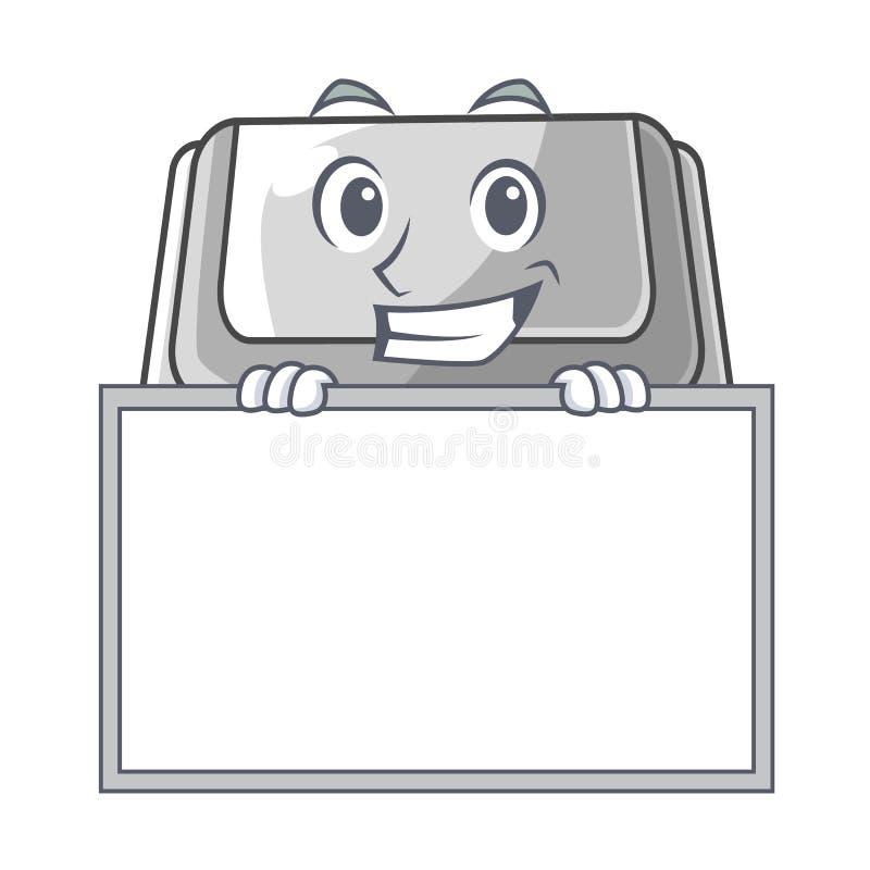 Grinning с коробкой доски пластиковой изолированной в мультфильме бесплатная иллюстрация