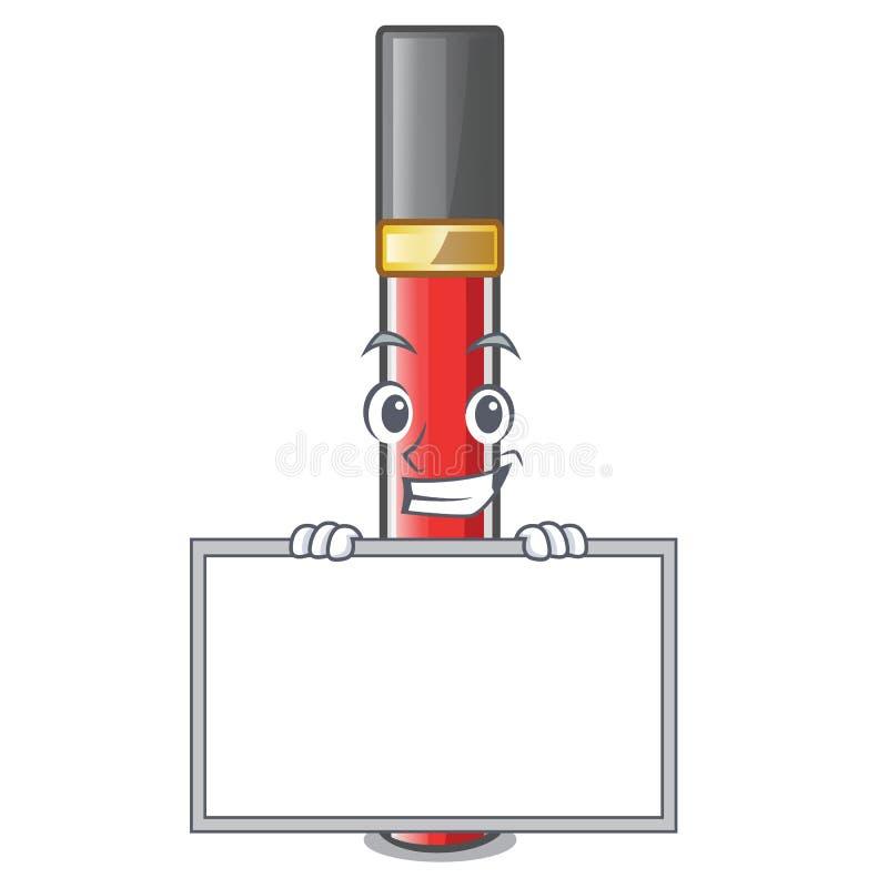 Grinning с лоском губы доски в форме мультфильма иллюстрация штока