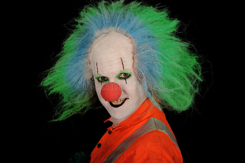 Grinning Clown stock image