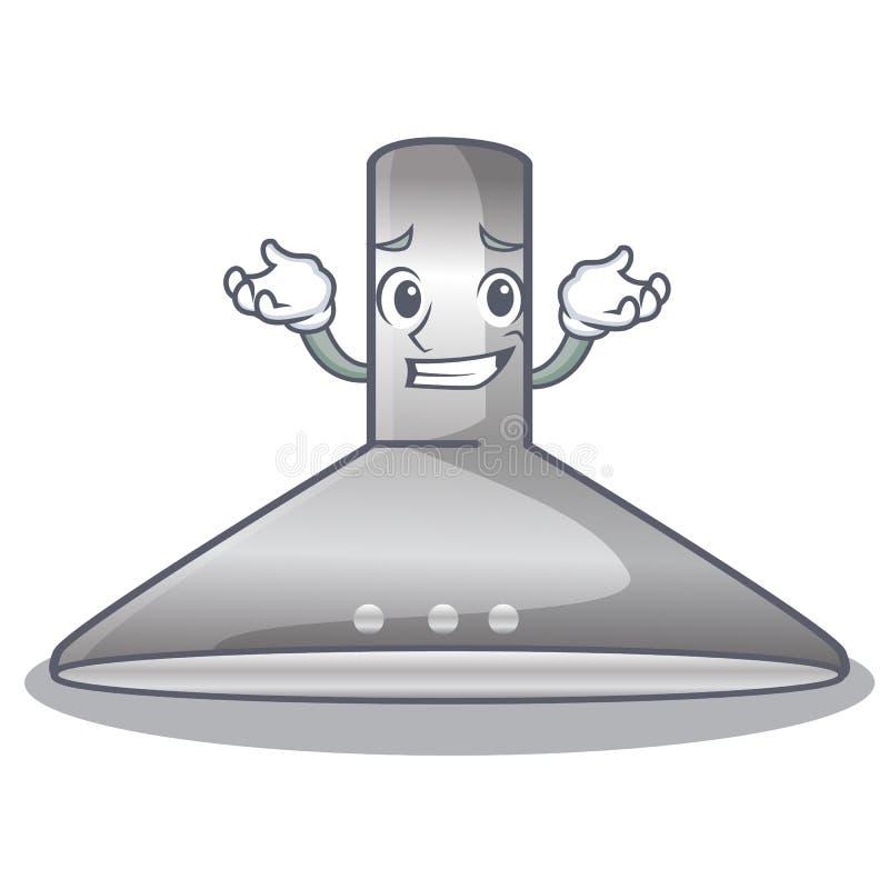 Grinning kichen hood in the mascot shape. Vector illustration stock illustration