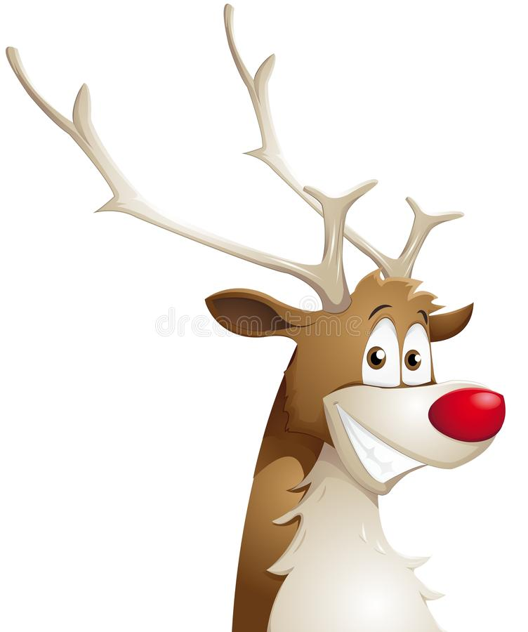 Download Grinning reindeer stock vector. Image of christmas, drawing - 26066946