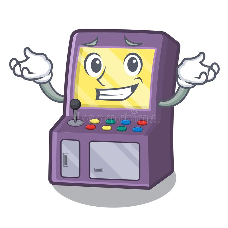 Grinning toy arcade machine in cartoon drawer royalty free illustration