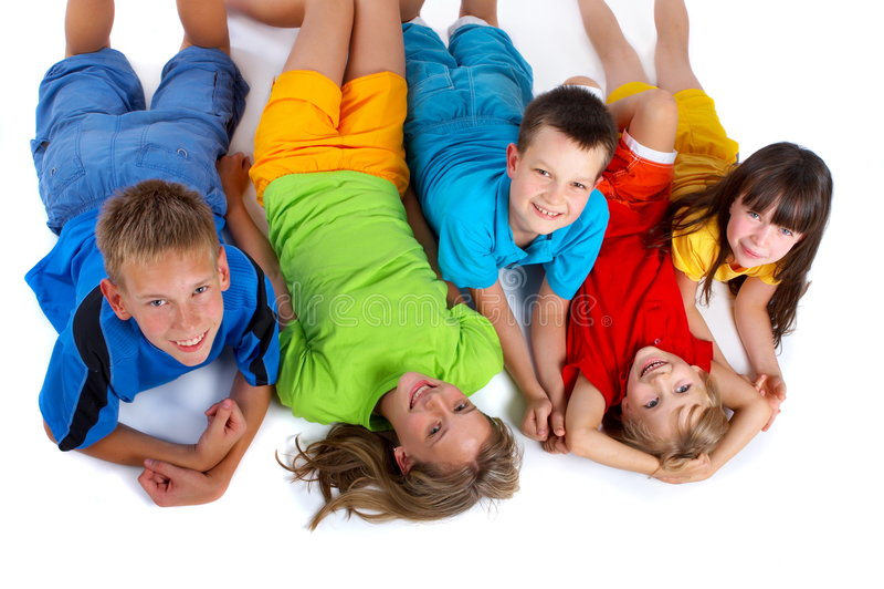 Grinsende Kinder lizenzfreie stockfotografie