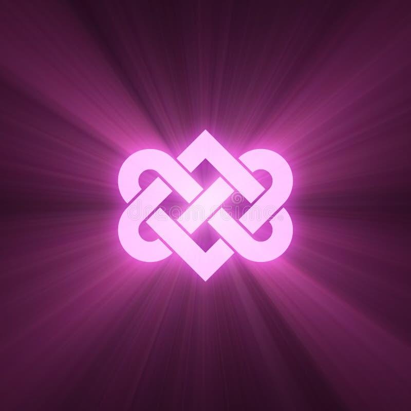 Gripa in i varandra signalljuset för ljus för hjärtafnurensken stock illustrationer