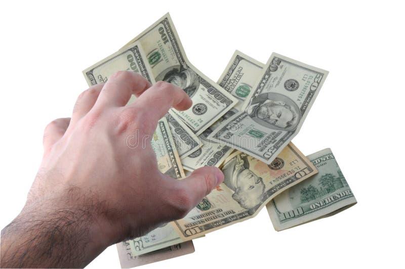 gripande handpengar royaltyfri fotografi