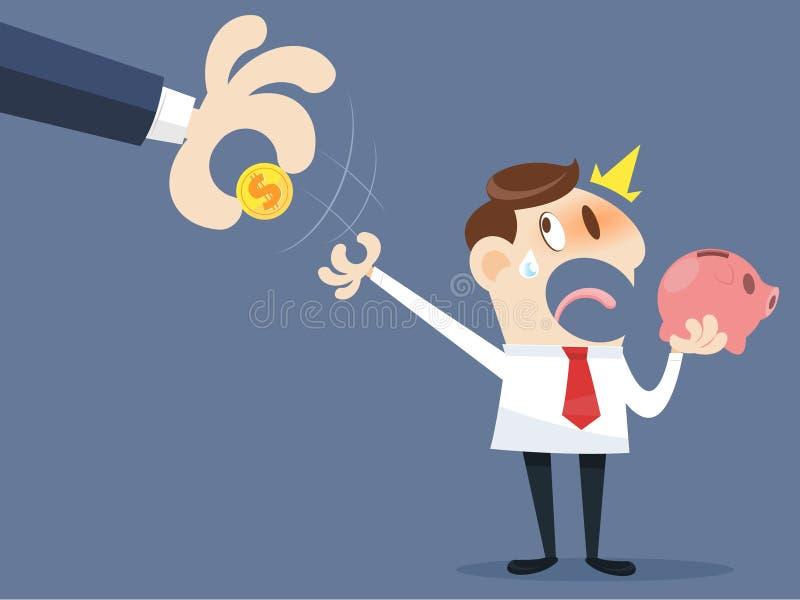 Gripande pengar för hand vektor illustrationer