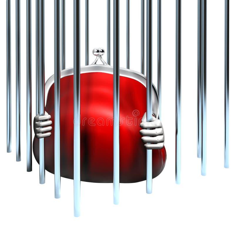 Gripande & utredning av brottet stock illustrationer