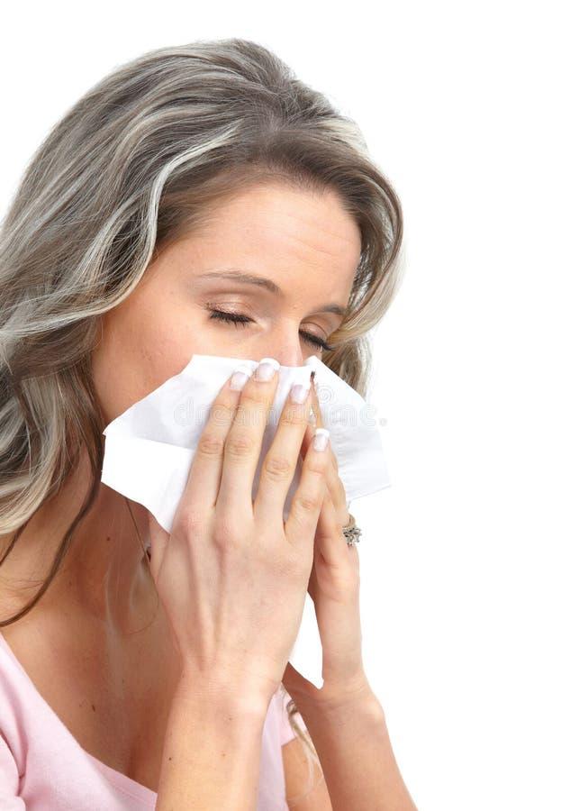 Gripe, alergia fotografia de stock