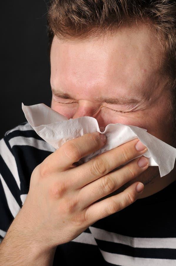 Gripe del frío de las alergias foto de archivo libre de regalías