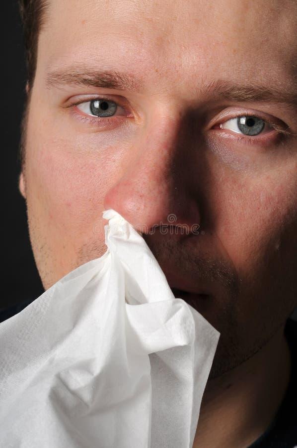 Gripe do frio das alergias imagens de stock