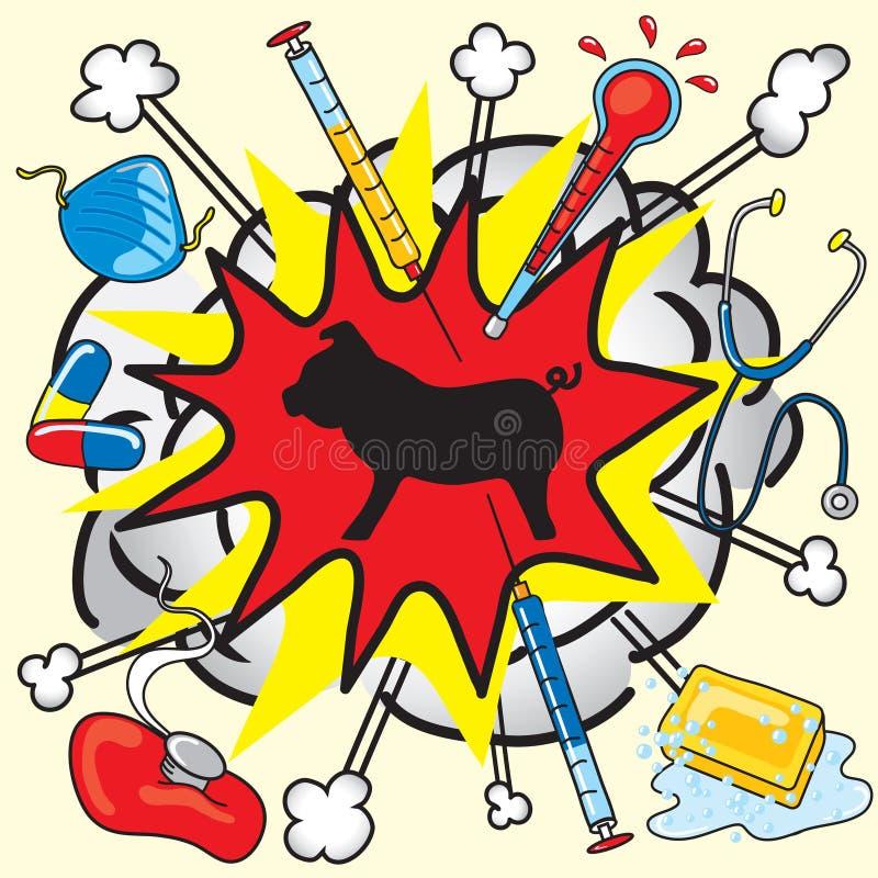 Gripe dos suínos ilustração stock