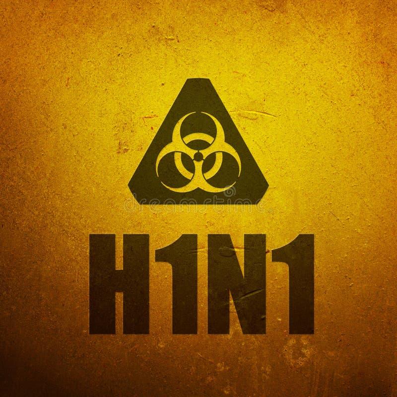 Gripe dos suínos H1N1 ilustração royalty free