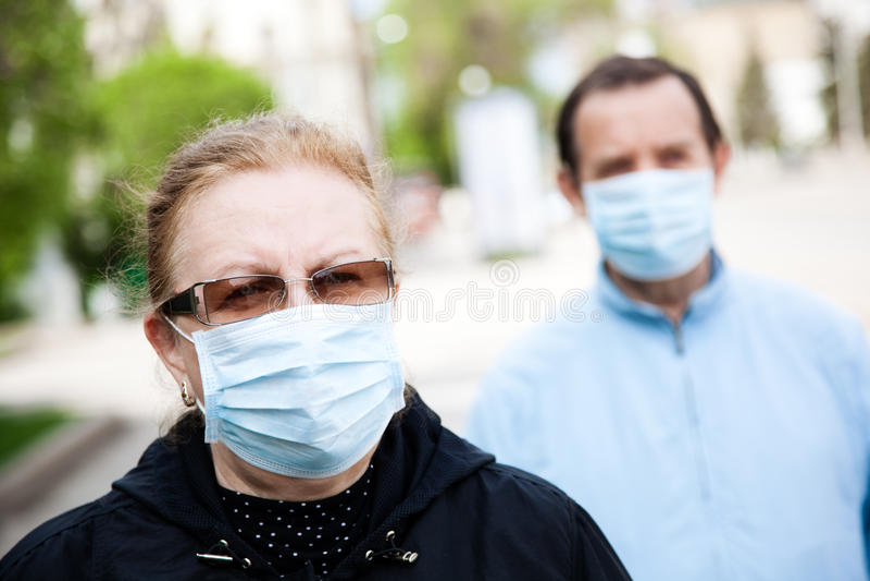 Gripe epidemy imagens de stock royalty free