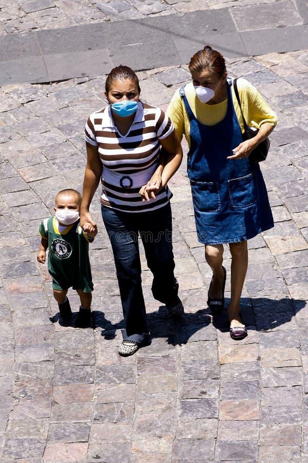 Gripe h1n1 de los cerdos en México imágenes de archivo libres de regalías