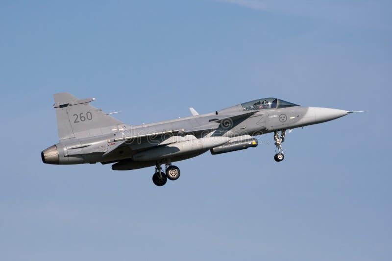 gripen jetfighter saab 库存图片