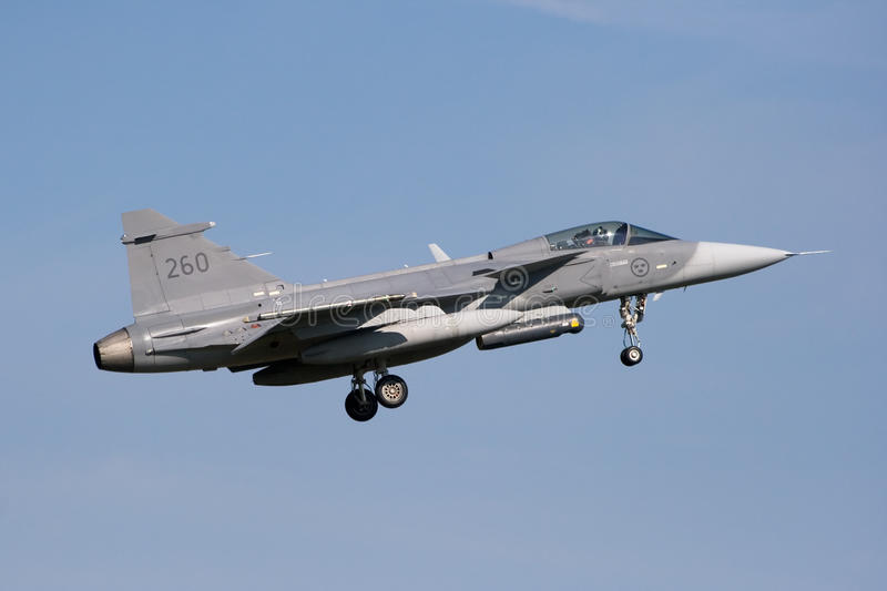 gripen jetfightersaab fotografering för bildbyråer
