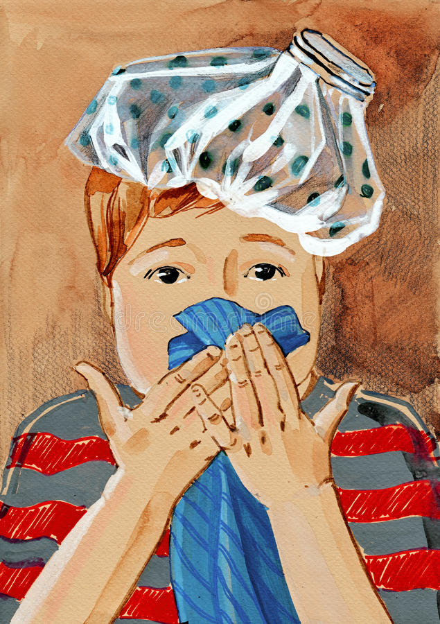 Grippe lizenzfreie abbildung