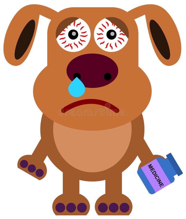 Grippe de chien illustration libre de droits