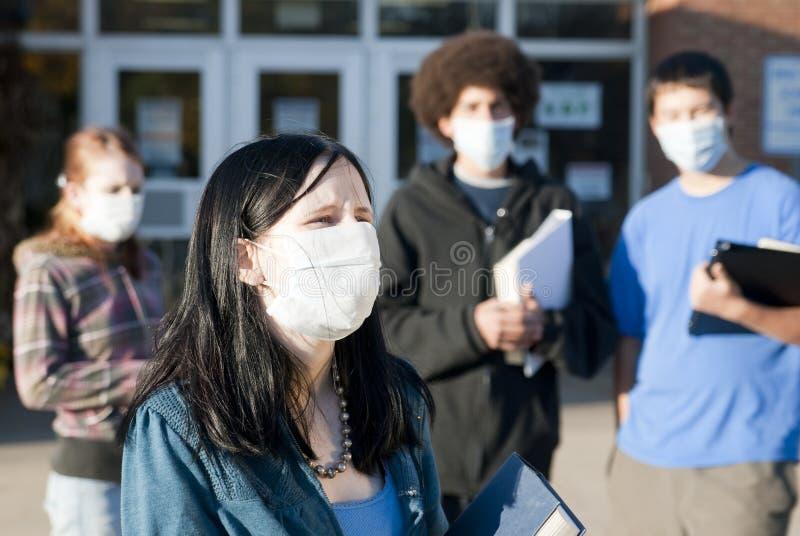 Grippe de porcs à l'école image stock