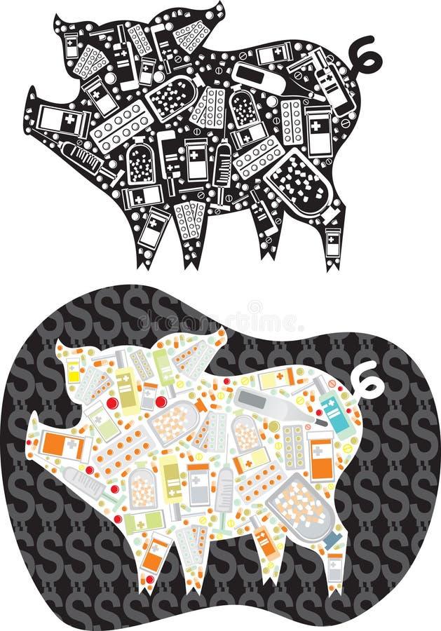 Grippe de porcs illustration libre de droits