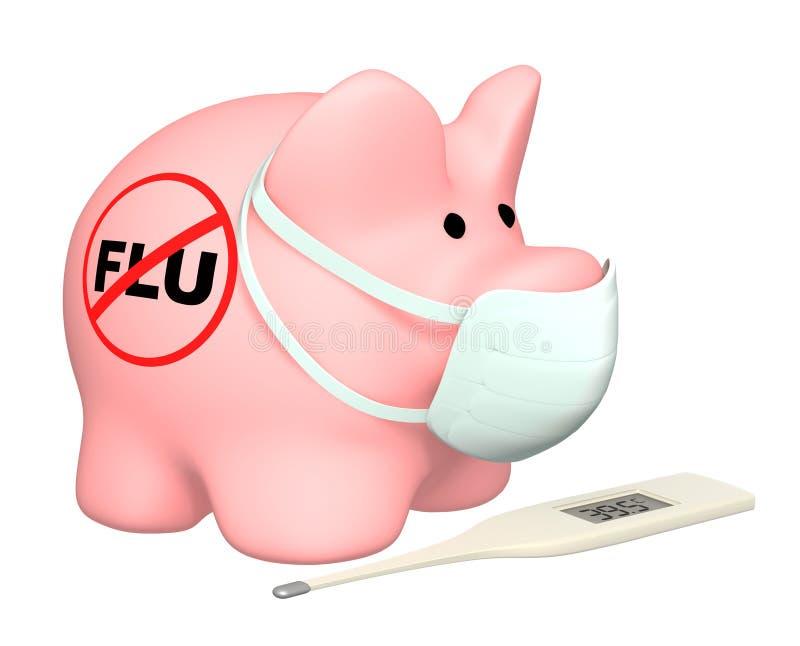 Grippe de porcs illustration de vecteur