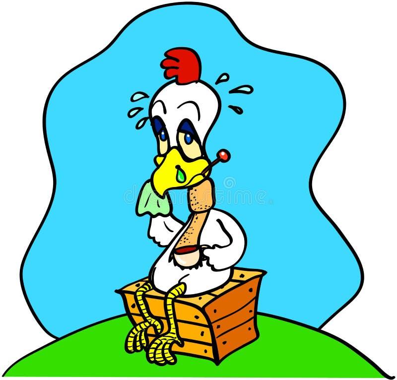 Grippe de poulet illustration de vecteur