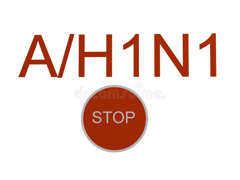 Grippe A/H1N1 illustration libre de droits