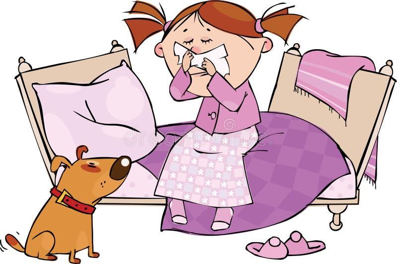 Grippe-Jahreszeit lizenzfreie abbildung
