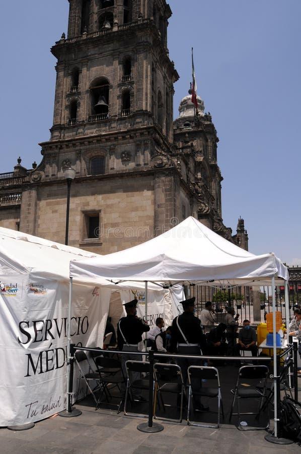 Grippe-Klinik in im Stadtzentrum gelegenem Mexiko City lizenzfreies stockbild