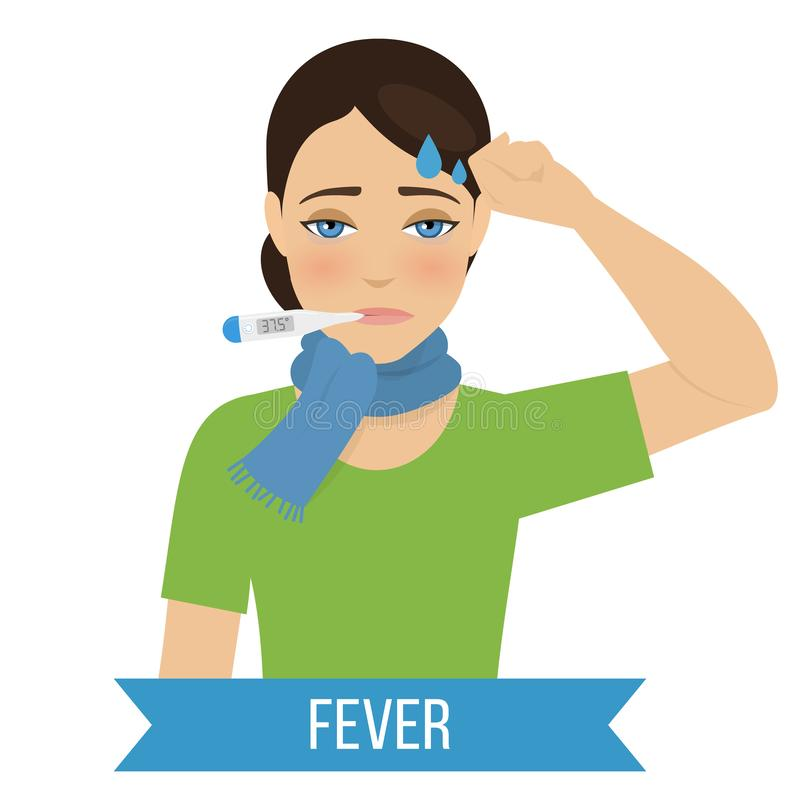 Grippe und K?lte lizenzfreies stockfoto
