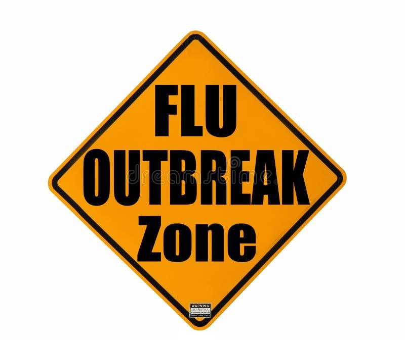 Grippeausbruch-WARNING lizenzfreie stockbilder