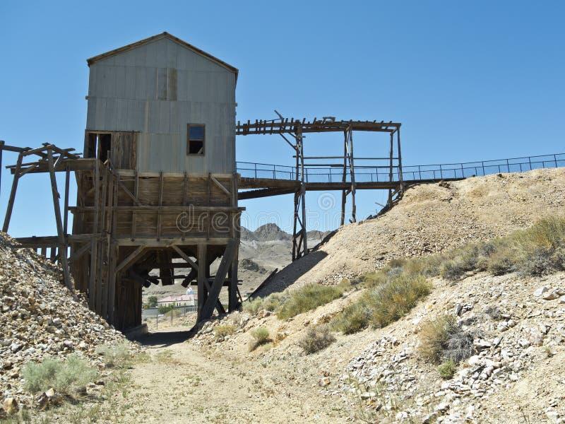 Grisáceo superior de plata en Tonopah, Nevada fotografía de archivo