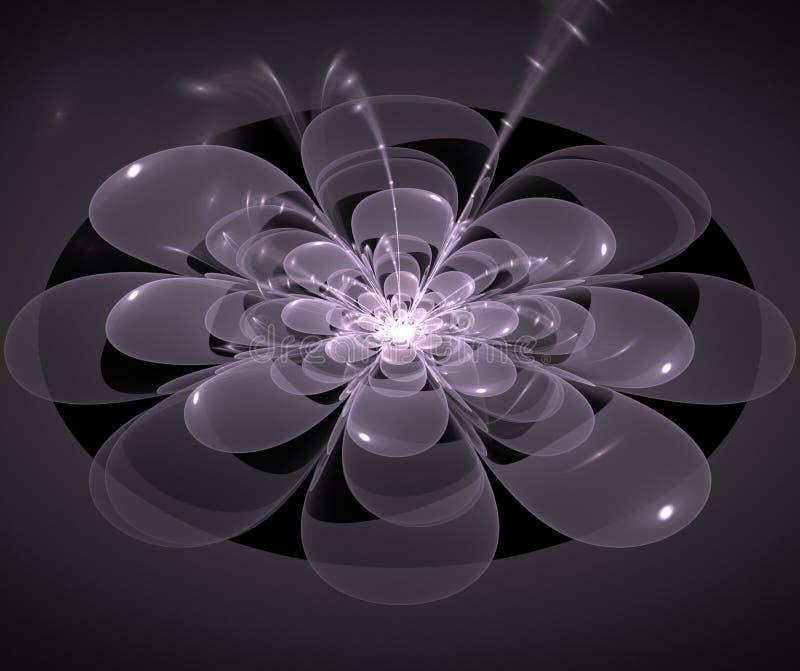 Gris abstrait de fleur de fractale images stock