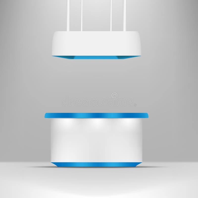 Download Gris Blanc Avec La Position Bleue Stalle De POI De Conception Ou Kiosque Extérieure 3D/d'intérieur Illustration de Vecteur - Illustration du affichage, mail: 87705642