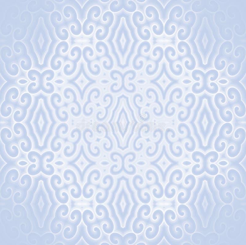 Gris bleu-clair blanc mis en rouleau de modèle de diamant centré et brouillé illustration stock
